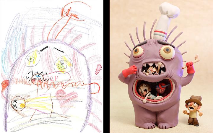 Những Người Nghệ Sĩ Đã Cho Những Bức Vẽ Quái Vật Của Trẻ Em Một Cuộc Sống Mới Để Khuyến Khích Khả Năng Sáng Tạo Của Chúng