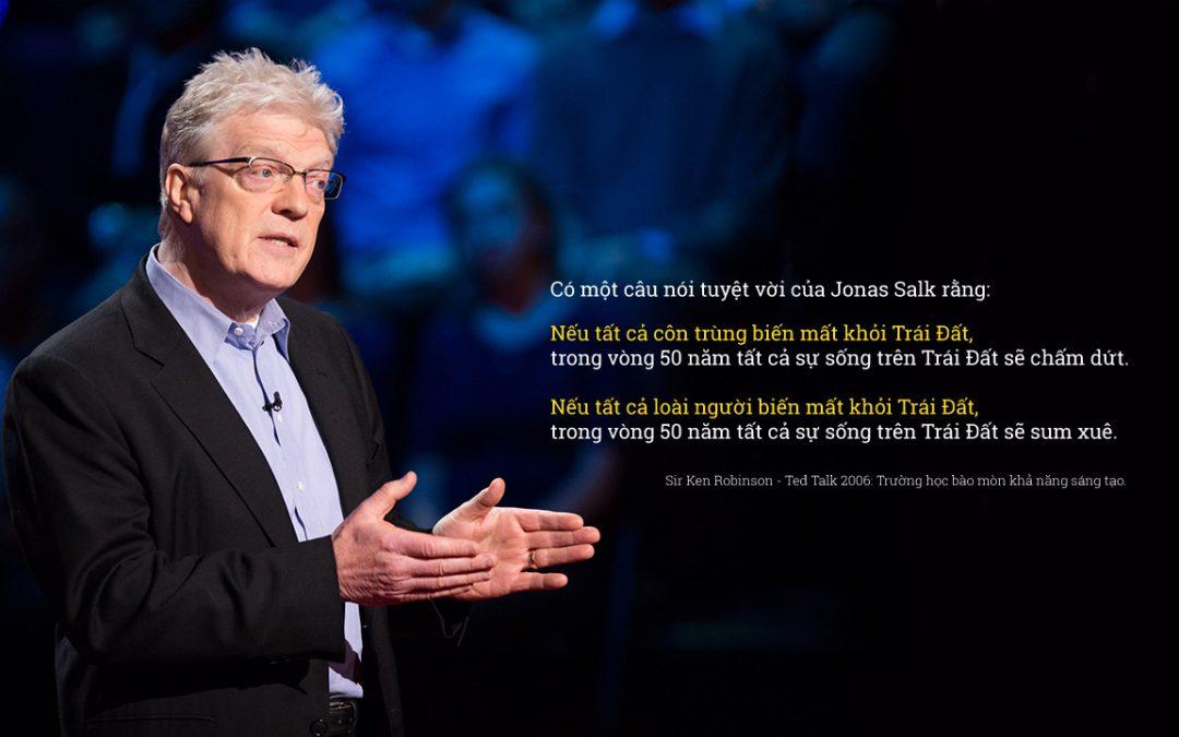 """Quan điểm về """"Sáng tạo và Giáo dục"""" của Sir Ken Robinson"""